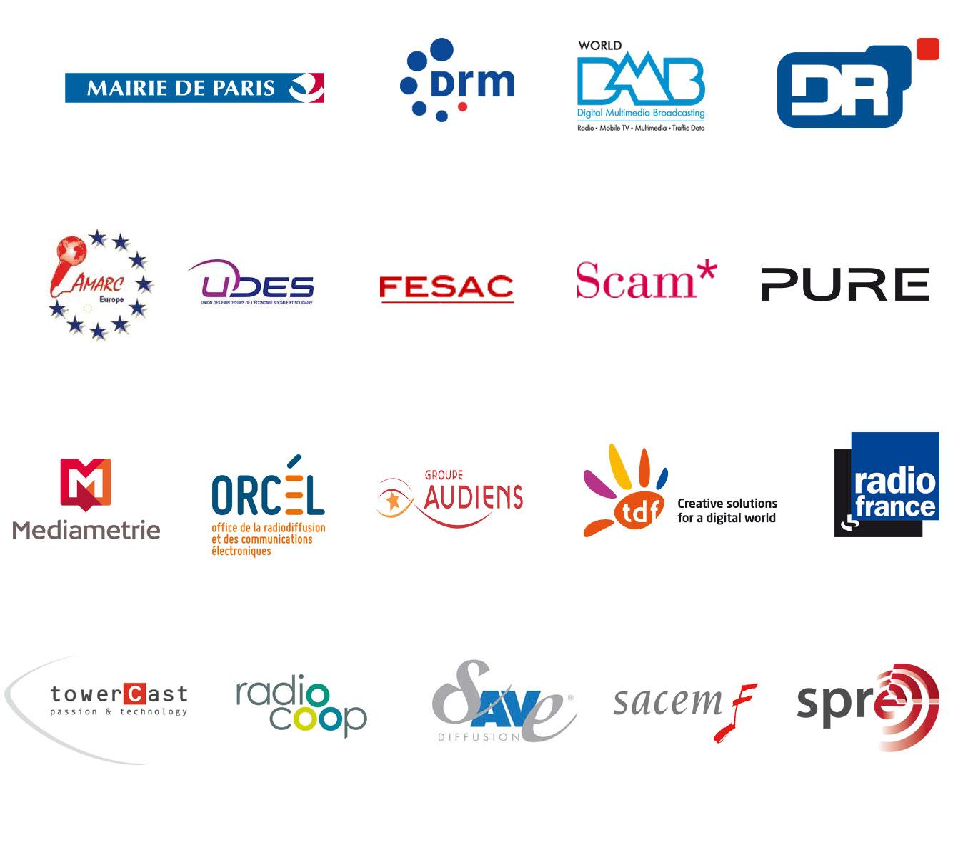 logos des partenaires du Congrès de Paris