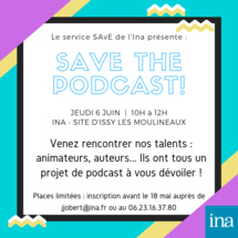L'Institut National de l'Audiovisuel organise 2 séances de Pitch