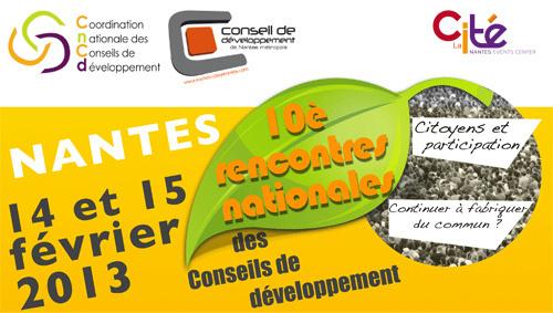 Relayez l'émission spéciale consacrée aux 10èmes rencontres nationales des Conseils de Développement