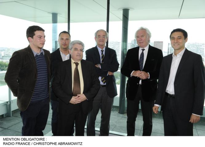 De gauche à droite: Pierre Montel, Loïc Chusseau, Emmanuel Boutterin, Patrice Gélinet, Jean-Luc Hees et Roland Husson