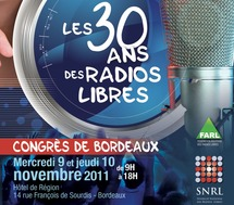 "Congrès de Bordeaux SNRL 2011 ""30 ans de radios libres !"""