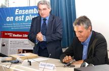 Emmanuel Boutterin et Rachid Arhab au congrès du Syndicat à la Tour Pleyel.