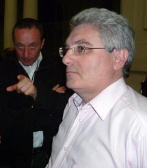 Ludovic Tellier et Emmanuel Boutterin, Président du syndicat, avant une intervention publique sur le FSER