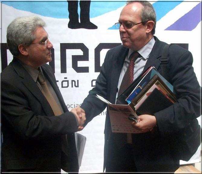 Emmanuel Boutterin, nouveau vice-président exécutif de l'AMARC et Franck Larue, Rapporteur Spécial de l'ONU pour la liberté d'exression