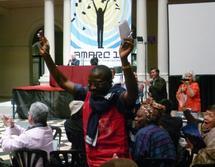 Les délégués de Haïti soutenant la candidature du SNRL lors de la proclamation du résultat des élections