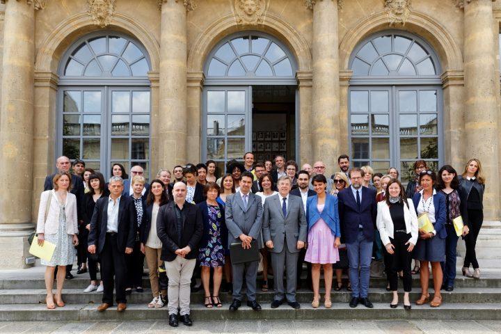 Paris 6 juillet 2016 – le Groupe National de Pilotage de la Semaine de la Presse et des Médias à l'Ecole : Eric Lucas y représente les radios associatives.