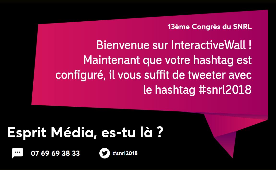 Participez au congrès du SNRL par SMS au 07 69 69 38 33 avec #snrl2018