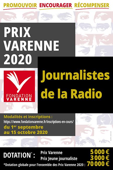 La Fondation Varenne lance ses PRIX VARENNE 2020 dont celui de la RADIO
