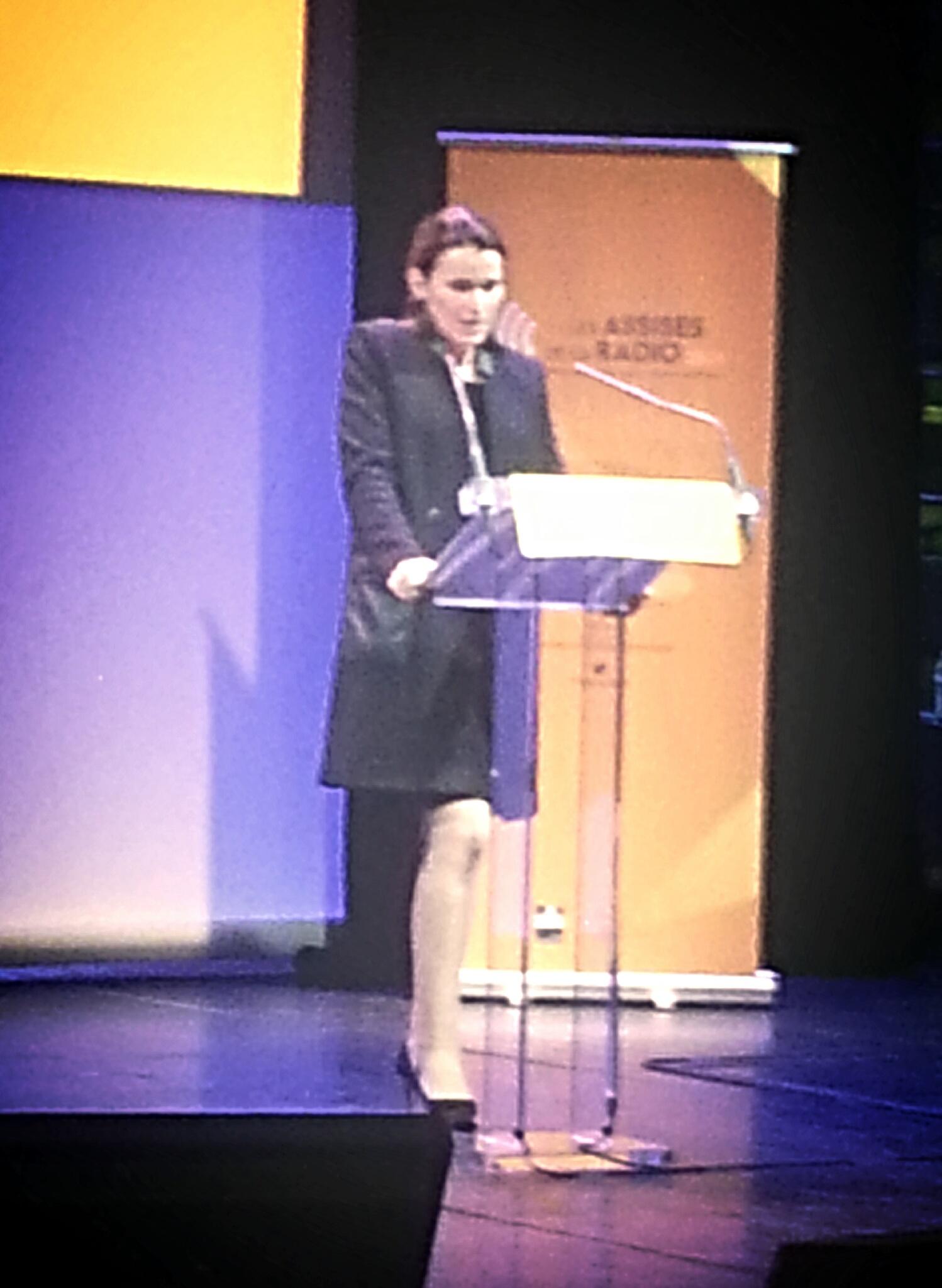 Aurélie Filippetti lors de son discours de clôture au Musée du Quai Branly