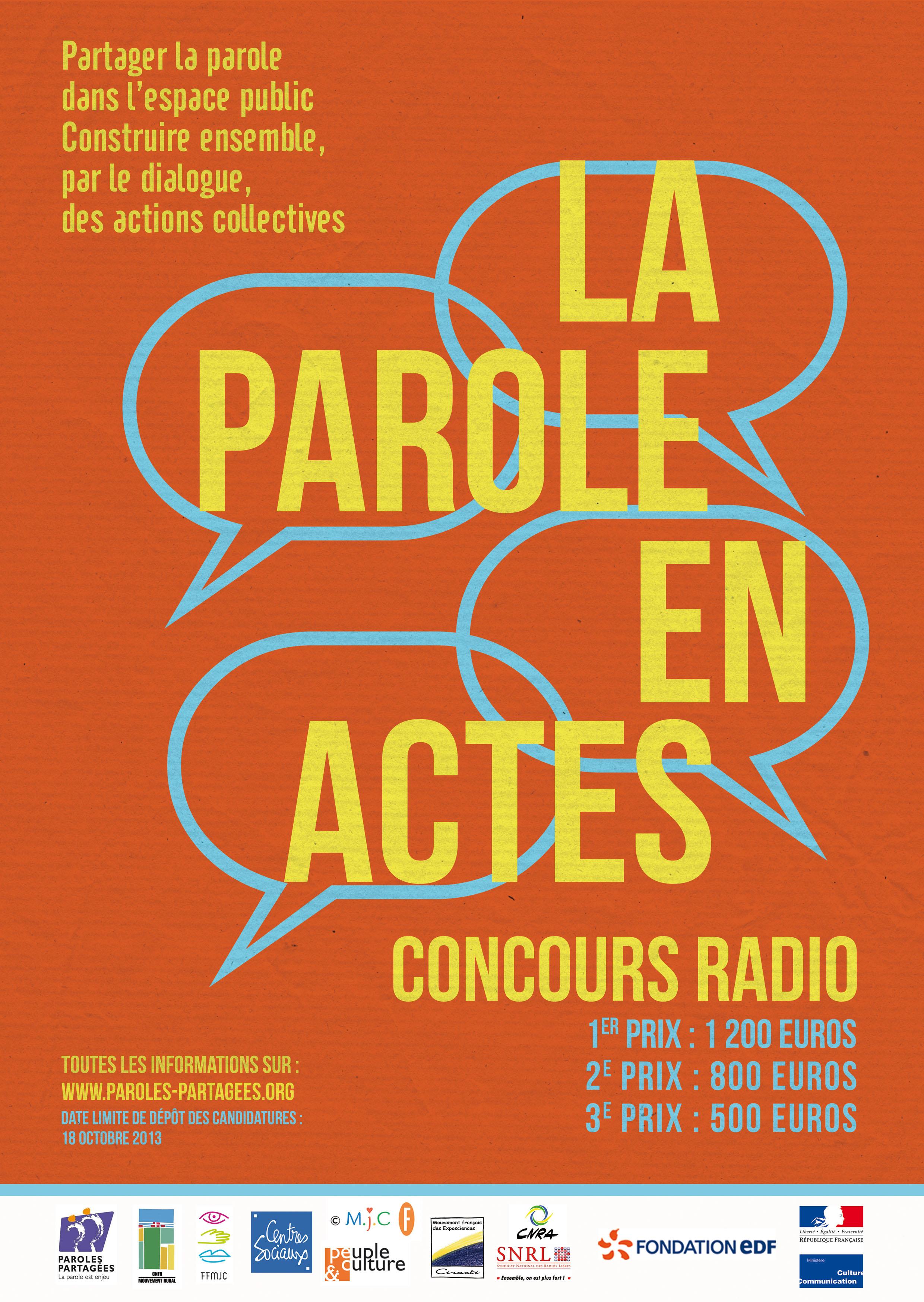 """Concours """"Paroles partagées"""" - édition 2013 : tous à vos micros !"""
