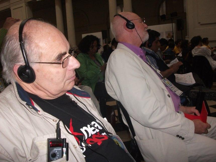 Eric Lucas et Jean Michel Sauvage lors de la Conférence Mondiale des Radios à Buenos Aires