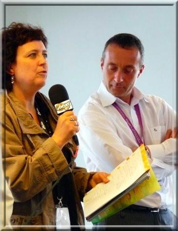 Michelle Lestelle, membre de la Commission du Fonds de Soutien, au coté de Ludovic Tellier, chargé de la communication du Syndicat
