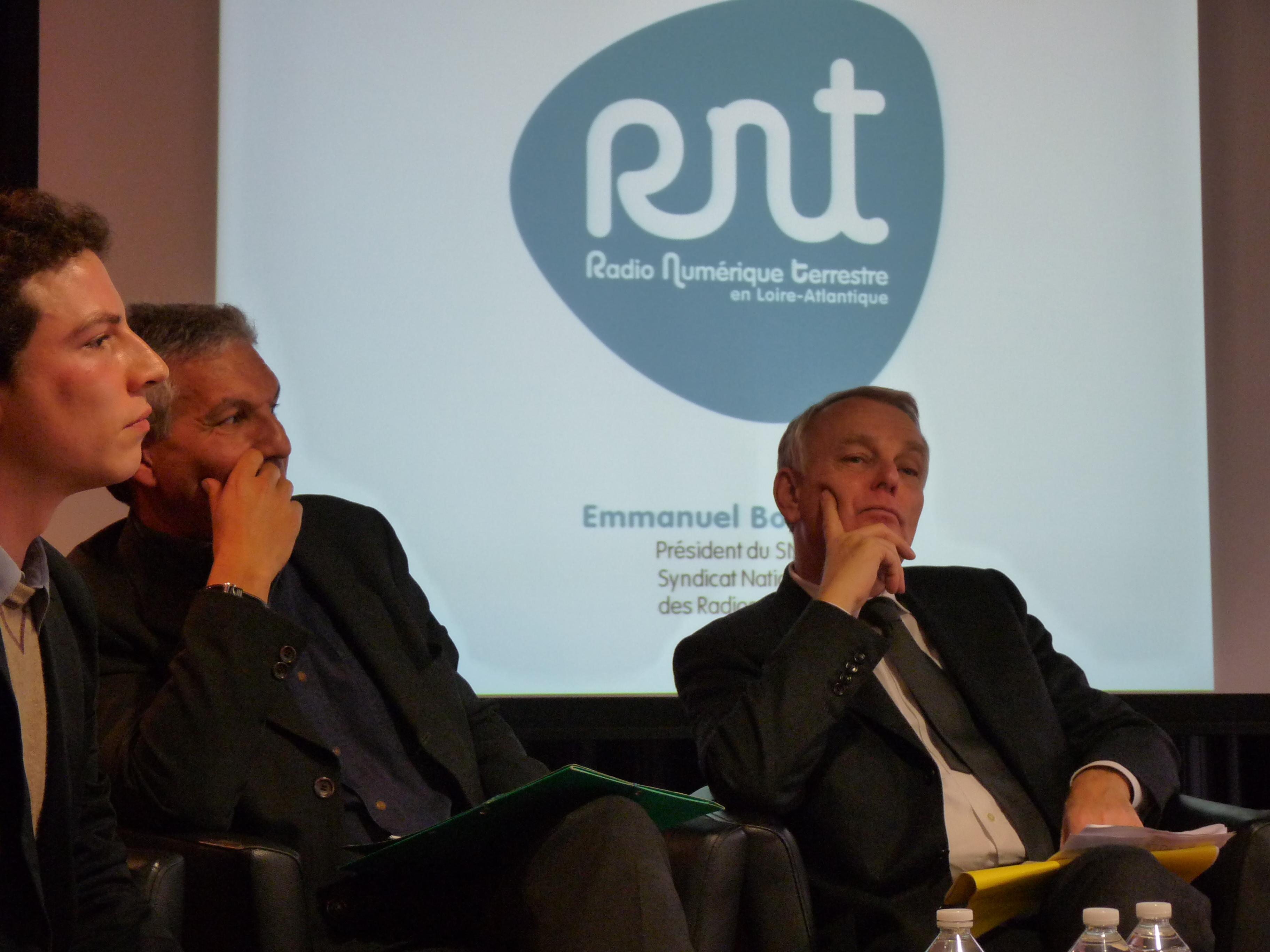 Pierre Montel, Rachid Arhab et Jean-Marc Ayrault réunis autour de la RNT à Nantes