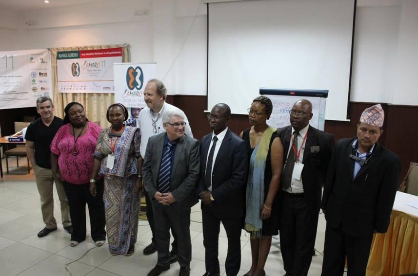 Une partie du nouveau Conseil d'administration international de l'AMARC autour d'Emmanuel Boutterin