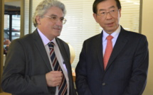AMARC Asie-Pacifique III : Park Won-soon, le Gouverneur de Séoul s'engage auprès d'Emmanuel Boutterin